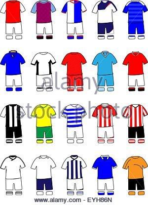 English League Kits 2011/2012 - Stock Photo
