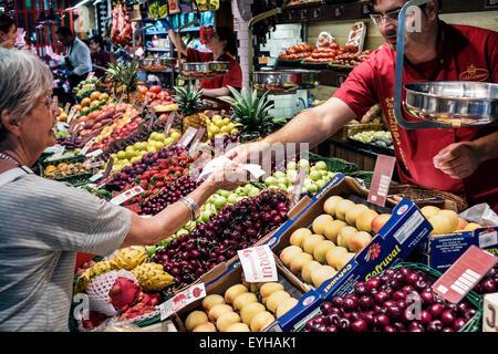 Madrid Spain Europe Spanish Recoletos Salamanca Calle de Goya Platea Madrid Gold Gourmet family business shopping - Stock Photo