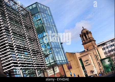 Laing Art Gallery and Central Library, Newcastle-upon-Tyne - Stock Photo