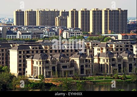 Hangzhou. 22nd Apr, 2015. Photo taken on April 22, 2015 shows a real estate project in the Nanxun District of Huzhou, - Stock Photo