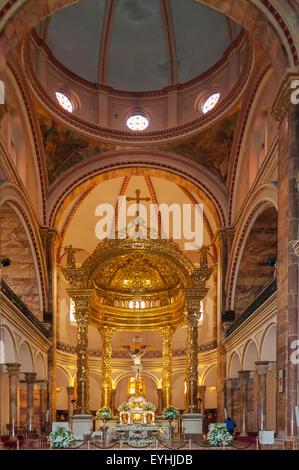 Altar of New Cathedral, Cuenca, Ecuador - Stock Photo