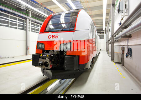 Krefeld, Germany, Desiro CityJet the Siemens rail car plant - Stock Photo