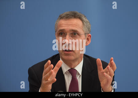 Berlin, Germany, Jens Stoltenberg, Ap, NATO Secretary General - Stock Photo