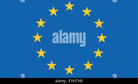 Fahne: Europaeische Union/ flag: European Union. - Stock Photo