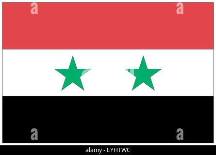 Fahne: Syrien/ flag: Syria. - Stock Photo