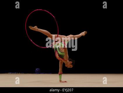 Liverpool, UK. 30th July, 2015. British Gymnastics Championship Series Day 1. Laura Halford of the Esprit Rhythmic - Stock Photo
