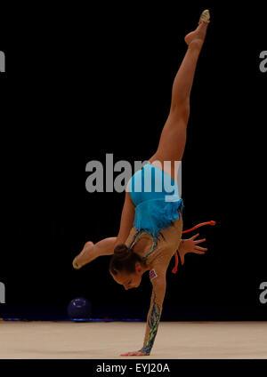 Liverpool, UK. 30th July, 2015. British Gymnastics Championship Series Day 1. Christianna Vitanova of the Elite - Stock Photo
