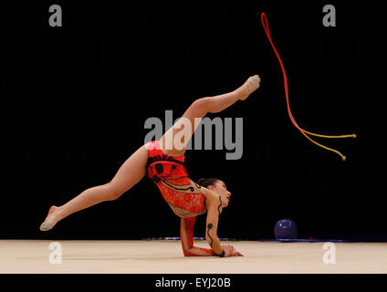Liverpool, UK. 30th July, 2015. British Gymnastics Championship Series Day 1. Selina Brown of the City of Bath Rhythmic - Stock Photo
