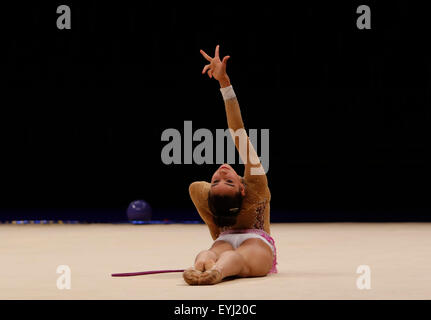 Liverpool, UK. 30th July, 2015. British Gymnastics Championship Series Day 1. Evelyn Heis of the Llanelli Academy - Stock Photo