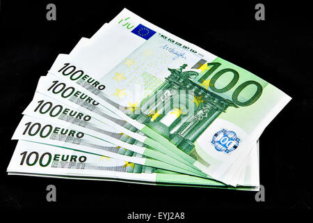 European banknotes,  Euros. - Stock Photo