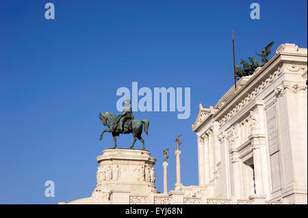 italy, rome, vittoriano, vittorio emanuele II monument - Stock Photo