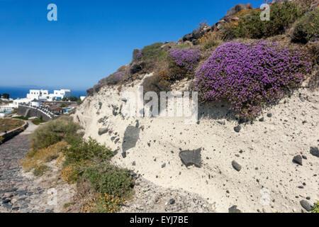The path from Imerovigli to Oia, pumice profile, Santorini, Greek Islands, Cyclades, Greece, EU, Europa - Stock Photo