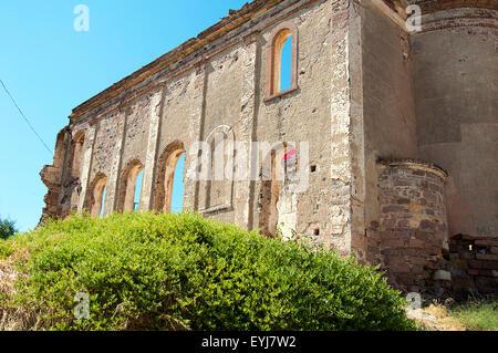 Cunda island church ruins - Stock Photo