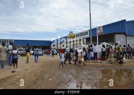 Roadside scenes of life from Inhambane to Maputo, Mozabique, Dec 2015 - Stock Photo