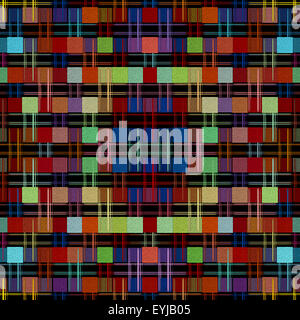Multicolored kaleidoscope and square shape pattern as abstract background.Digitally generated image. - Stock Photo