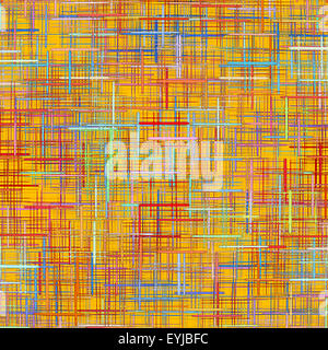 Yellow checkered pattern as abstract background.Digitally generated image. - Stock Photo