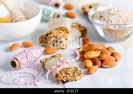 Gluten free granola bars - Stock Photo