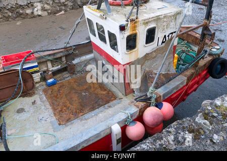Fishing boat in dry dock - Stock Photo
