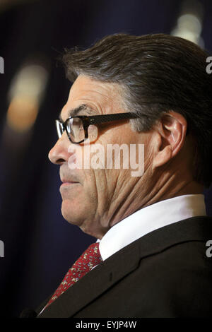 New York City. 29th July, 2015. Republican presidential candidate Rick Perry speaks at event hosted by the Committee - Stock Photo