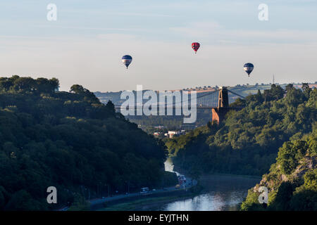 Bristol, UK. 31st July, 2015. Balloons take off as a test launch for the Bristol International Balloon Fiesta, starting on the 6th of August. Credit:  Paul Smith/Alamy Live News