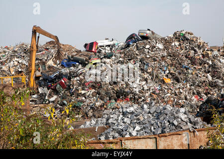 Scrap metal recycling processed metals, EMR company, Swindon, England, UK - Stock Photo