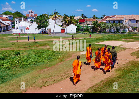 Sri Lanka, Southern Province, South Coast beach, Galle, old town, Dutch fort, UNESCO World Heritage site, Lighthouse - Stock Photo