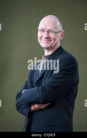 Scottish novelist, James Robertson, appearing at the Edinburgh International Book Festival. - Stock Photo