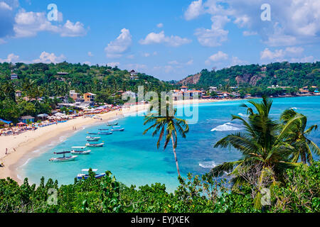 Sri Lanka, Southern Province, South Coast beach, Galle district, Unawatuna beach - Stock Photo
