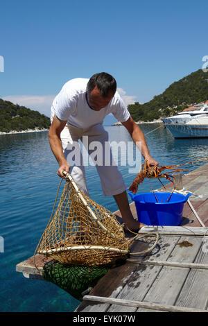 Europa, Croatia, Dalmacia province, Lastovo island, Adriatic sea, Zaklopatica bay, - Stock Photo