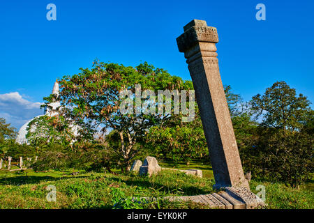 Sri Lanka, North Central Province, Anuradhapura, historic capital of Sri Lanka, UNESCO World Heritage Site, Ruvanvelisaya - Stock Photo