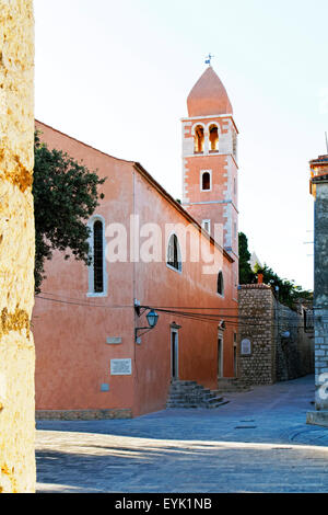 Church St Justine, Rab Town on Rab Island, Croatia - Stock Photo