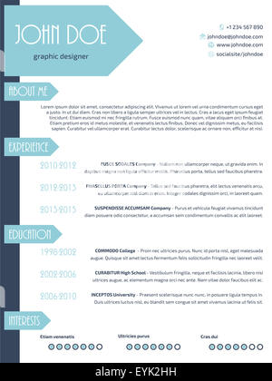 work tools simplistic modern resume curriculum vitae cv template design with arrows stock photo