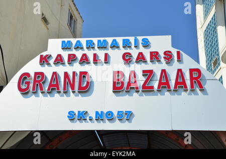 The Grand Bazaar, in Marmaris Town Centre, Mugla Province, Turkey, - Stock Photo