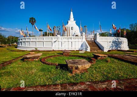 Sri Lanka, North Central Province, Anuradhapura, historic capital of Sri Lanka, UNESCO World Heritage Site, Thuparama - Stock Photo