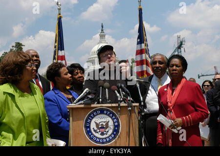 Filmmaker Michael Moore speaks during a news conference at Capitol Hill in Washington DC. The premiere of his new - Stock Photo