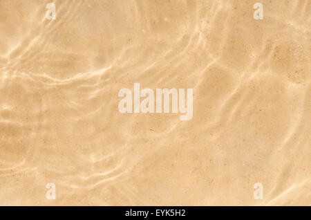 Beach Sand Bottom Ripple Of Water Waves Reflection Texture