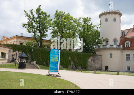 The Cēsis Manor House or Cēsis New Castle was built in the mid-18th century. It was recently restored. It houses - Stock Photo