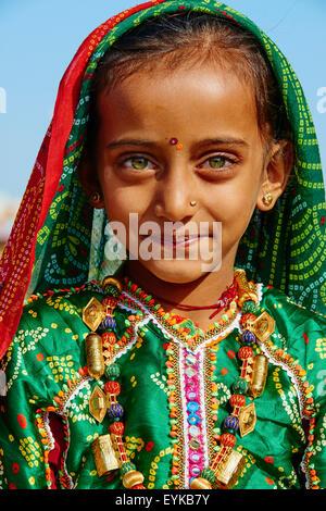 India, Gujarat, Kutch, Padhar village, Ahir ethnic group - Stock Photo