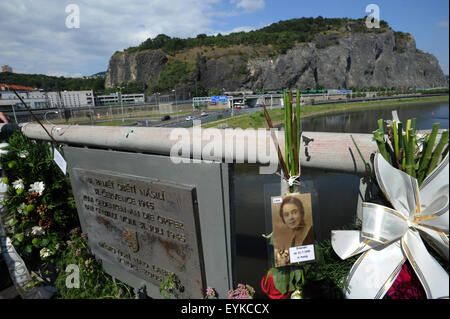 Meeting to commemorate 70th anniversary of Usti massacre in which several dozen German inhabitants were killed, - Stock Photo