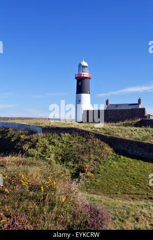 Lighthouse of Rathlin Island, Antrim county, Northern Ireland - Stock Photo