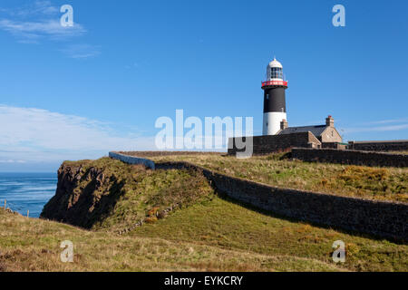 East Lighthouse on Rathlin island, Northern Ireland - Stock Photo