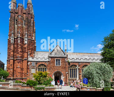 The parish and priory church of St Mary in the town centre, Totnes, Devon, England, UK - Stock Photo