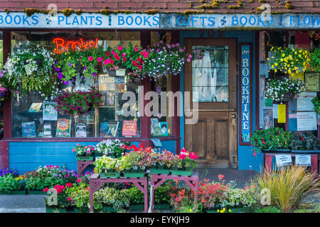 The Bookmine bookstore and plant store on Main Street in Cottage Grove, Oregon. - Stock Photo