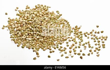 Buckwheats, team, individually, white ground, Stilllife, studio, Fagopyrum, - Stock Photo