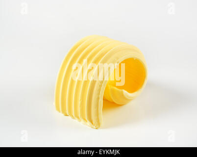 Curl of fresh butter - studio shot - Stock Photo