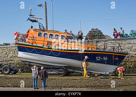 The RNLB Grace Darling On the Slipway at Seahouses in Northumberland England