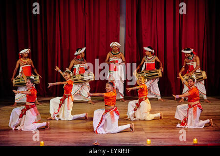 Sri Lanka, Ceylon, North Central Province, Kandy, UNESCO World Heritage city, Kandyan danse show - Stock Photo