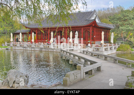 gardens of the world in the recreational park of marzahn chinese stock photo royalty free. Black Bedroom Furniture Sets. Home Design Ideas