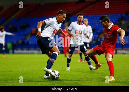 Bolton, Engand. 31st July, 2015. Pre Season Friendly Bolton United versus Charlton Athletic. Liam Feeney of Bolton - Stock Photo