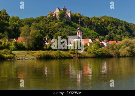 Germany, Bavaria, Lower Franconia, Main (river), 'Spessart' (uplands), - Stock Photo